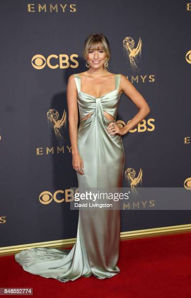 TV personality Renee Bargh attends the 69th Annual Primetime Emmy Awards Arrivals at Microsoft Theater on September 17 2017 in Los Angeles California