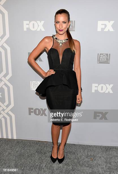 TV personality Renee Bargh attends the FOX Broadcasting Company Twentieth Century FOX Television and FX Post Emmy Party at Soleto on September 22...