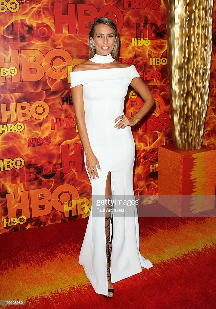 TV Personality Renee Bargh attends the HBO's Official 2015 Emmy After Party at The Plaza at the Pacific Design Center on September 20, 2015 in Los Angeles, California.