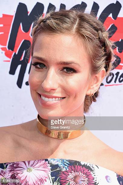 TV personality Renee Bargh attends the iHeartRadio Music Awards at The Forum on April 3 2016 in Inglewood California