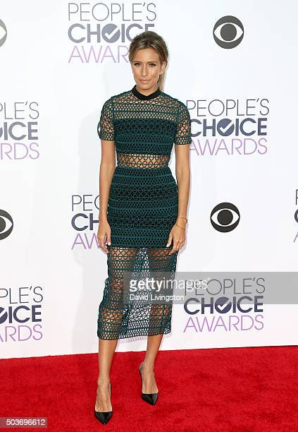 TV personality Renee Bargh attends the People's Choice Awards 2016 at Microsoft Theater on January 6 2016 in Los Angeles California