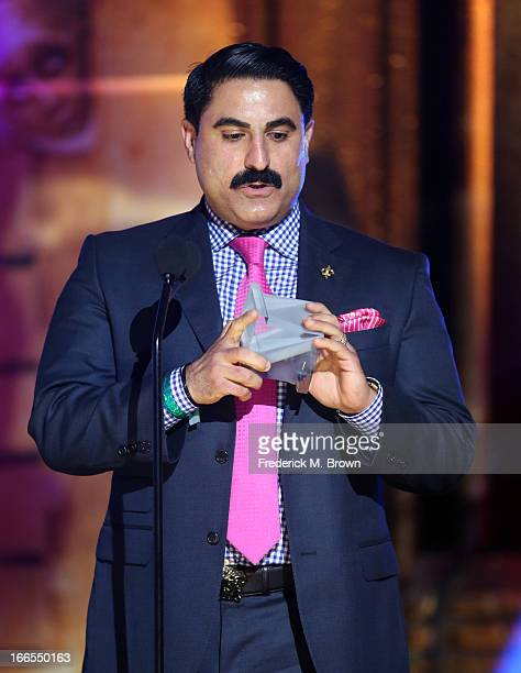 TV personality Reza Farahan attends the 2013 NewNowNext Awards at The Fonda Theatre on April 13 2013 in Los Angeles California