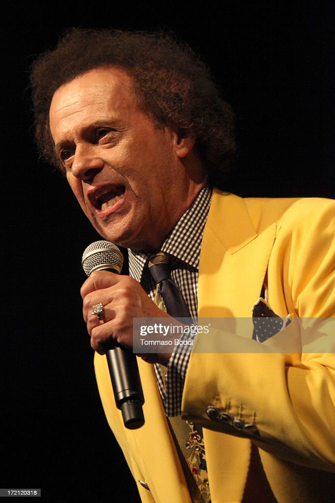 TV personality Richard Simmons attends the Friend Movement campaign benefit concert held at El Rey Theatre on July 1, 2013 in Los Angeles, California.