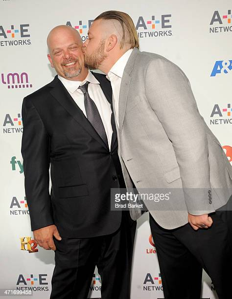 Personality Rick Harrison and Corey Harrison attend 2015 A+E Networks Upfront on April 30, 2015 in New York City.