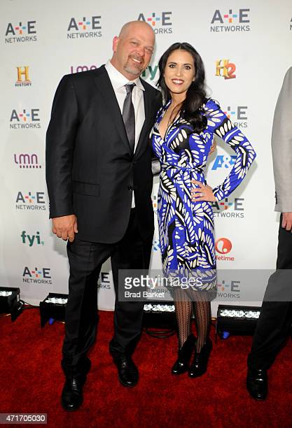 TV personality Rick Harrison and Deanna Burditt attend 2015 AE Networks Upfront on April 30 2015 in New York City