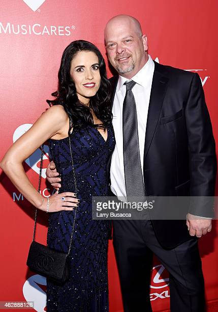TV personality Rick Harrison and Deanna Burditt attend the 25th anniversary MusiCares 2015 Person Of The Year Gala honoring Bob Dylan at the Los...