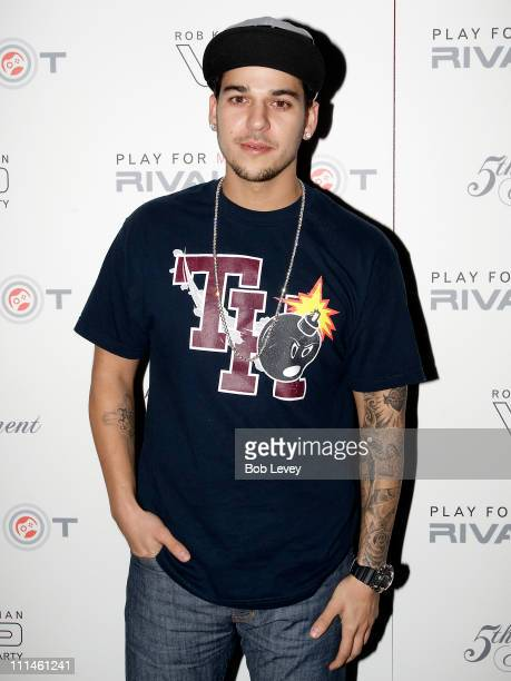 Personality Rob Kardashian attends Rivalspotcom's party during the Final Four basketball championship at 5th Amendment on April 1 2011 in Houston...