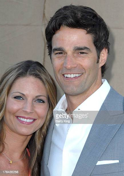 TV personality Rob Marciano and wife Eryn Marciano arrive at the 2013 Television Critic Association's Summer Press Tour CBS The CW Showtime Party on...