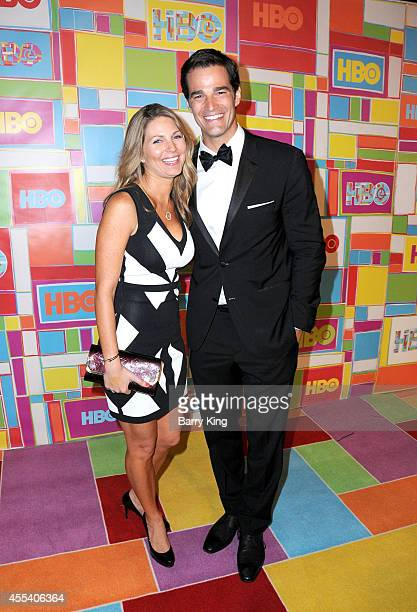 TV personality Rob Marciano and wife Eryn Marciano attend HBO's 2014 Emmy after party at The Plaza at the Pacific Design Center on August 25 2014 in...
