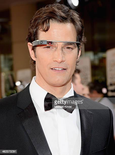 TV personality Rob Marciano attends the 71st Annual Golden Globe Awards with Moet Chandon held at the Beverly Hilton Hotel on January 12 2014 in Los...