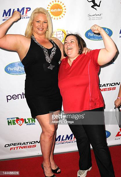 Personality Robin Coleman and trainer Jeanette Depatie participate in The Operation Fitness Free Health Fitness Expo held at Westfield Culver City...