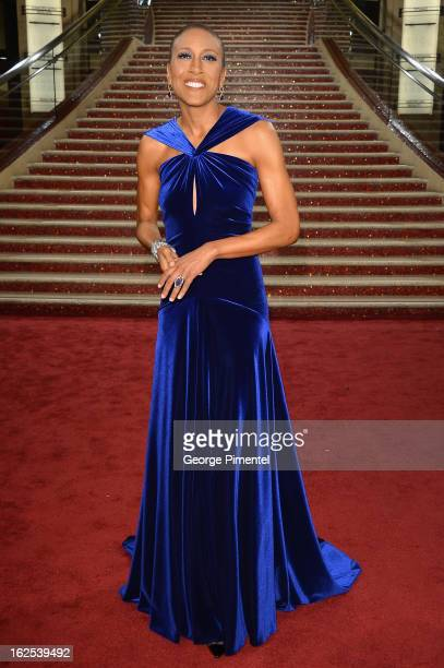 TV personality Robin Roberts arrives at the Oscars at Hollywood Highland Center on February 24 2013 in Hollywood California