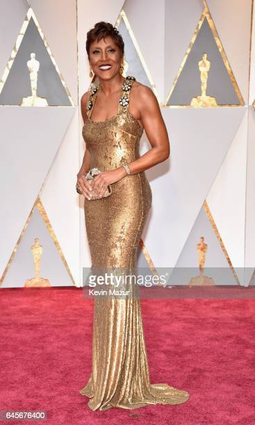 TV personality Robin Roberts attends the 89th Annual Academy Awards at Hollywood Highland Center on February 26 2017 in Hollywood California