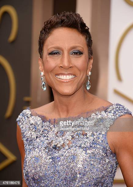 TV personality Robin Roberts attends the Oscars held at Hollywood Highland Center on March 2 2014 in Hollywood California