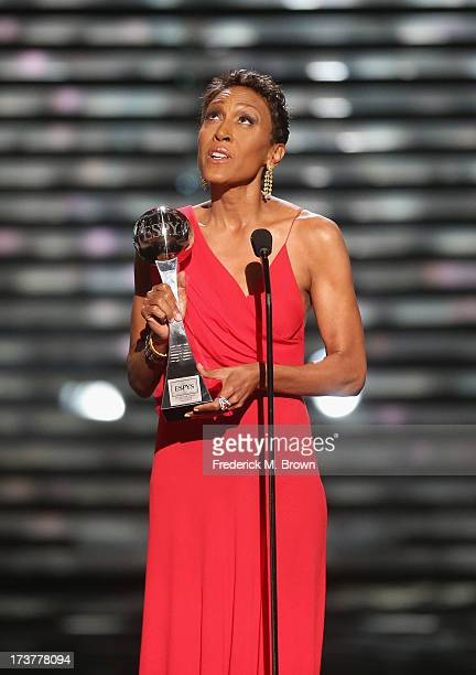 TV personality Robin Roberts speaks onstage after being presented the Arthur Ashe Courage Award at The 2013 ESPY Awards at Nokia Theatre LA Live on...
