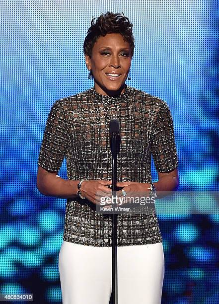 TV personality Robin Roberts speaks onstage during The 2015 ESPYS at Microsoft Theater on July 15 2015 in Los Angeles California
