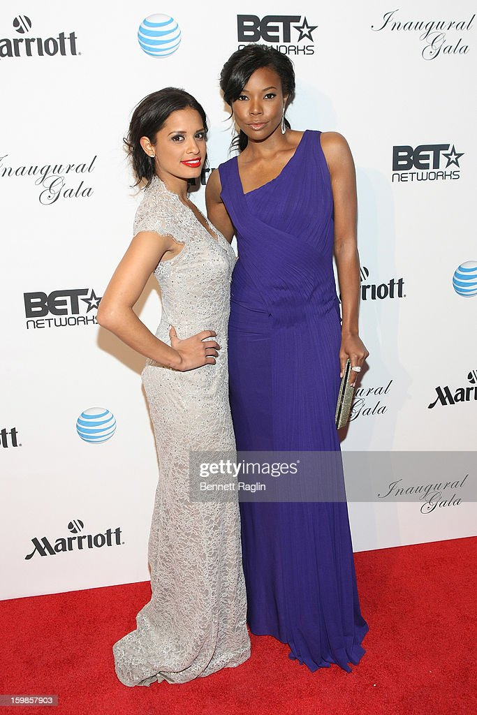 TV personality Rocsi Diaz (L) and actress Gabrielle Union attend the Inaugural Ball hosted by BET Networks at Smithsonian American Art Museum & National Portrait Gallery on January 21, 2013 in Washington, DC.