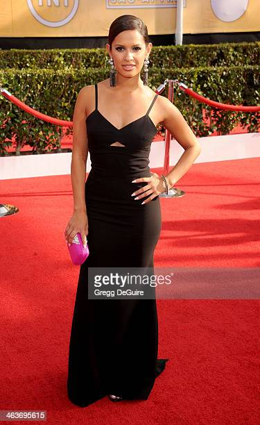 TV personality Rocsi Diaz arrives at the 20th Annual Screen Actors Guild Awards at The Shrine Auditorium on January 18 2014 in Los Angeles California