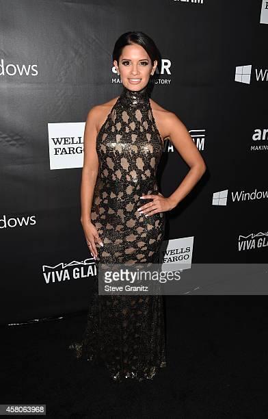 TV personality Rocsi Diaz attends amfAR LA Inspiration Gala honoring Tom Ford at Milk Studios on October 29 2014 in Hollywood California
