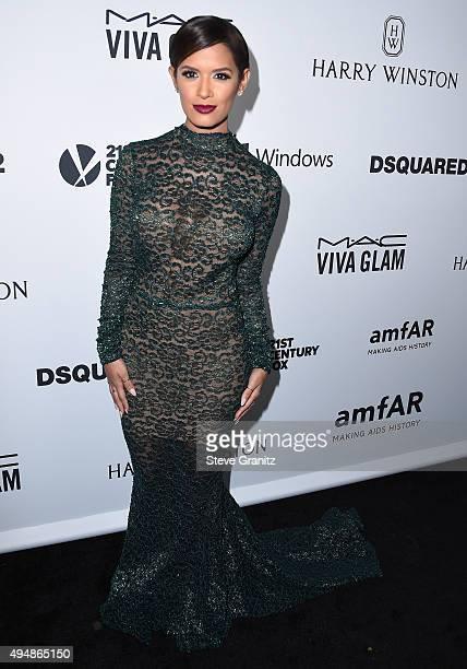 TV personality Rocsi Diaz attends amfAR's Inspiration Gala Los Angeles at Milk Studios on October 29 2015 in Hollywood California