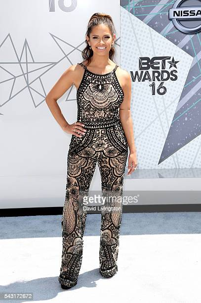 TV personality Rocsi Diaz attends the 2016 BET Awards at Microsoft Theater on June 26 2016 in Los Angeles California