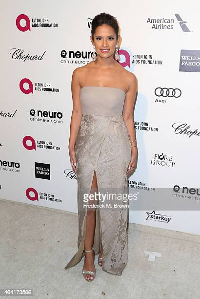TV personality Rocsi Diaz attends the 23rd Annual Elton John AIDS Foundation's Oscar Viewing Party on February 22 2015 in West Hollywood California