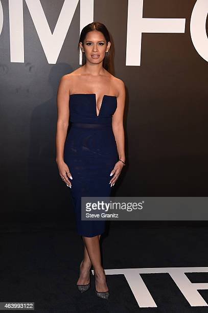 TV personality Rocsi Diaz attends the Tom Ford Autumn/Winter 2015 Womenswear Collection Presentation at Milk Studios in Los Angeles on February 20...