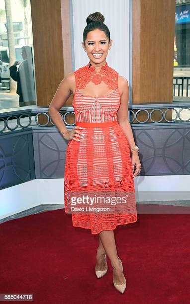 TV personality Rocsi Diaz poses at Hollywood Today Live at W Hollywood on August 1 2016 in Hollywood California