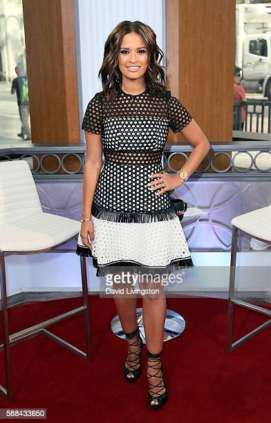 TV personality Rocsi Diaz poses at Hollywood Today Live at W Hollywood on August 11 2016 in Hollywood California