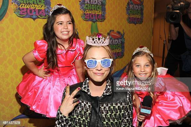 TV personality Rosie Grace McClelland actress Kaley CuocoSweeting and TV personality Sophia Grace Brownlee attend Nickelodeon's 27th Annual Kids'...