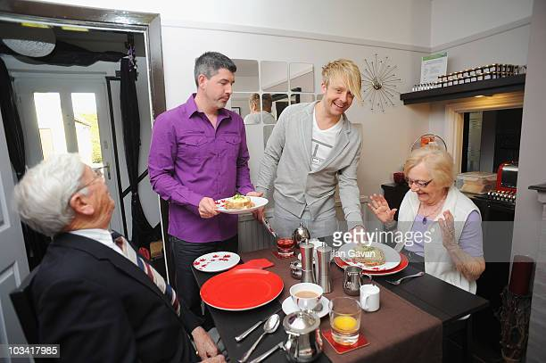 TV personality Ross Anthony and husband Paul Reeves are seen with guests in their BedandBreakfast 'Little Gables' on April 15 2010 in Wallingford...