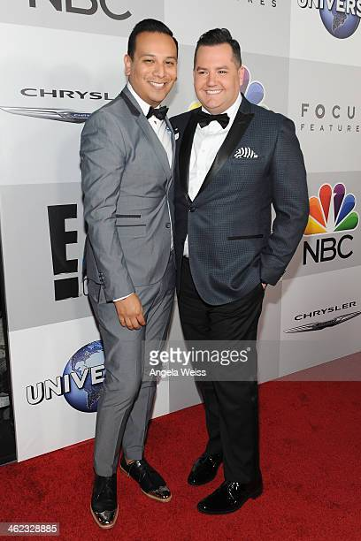 TV personality Ross Mathews and guest attend the Universal NBC Focus Features E sponsored by Chrysler viewing and after party with Gold Meets Golden...