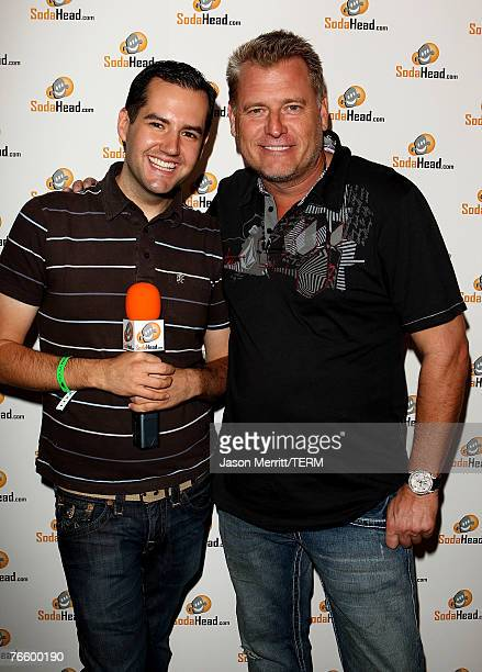 Personality Ross Mathews and talent manager Joe Simpson at the STAR LOUNGE presented by Hard Rock Hotel and Rolling Stone on August 8, 2007 in Las...