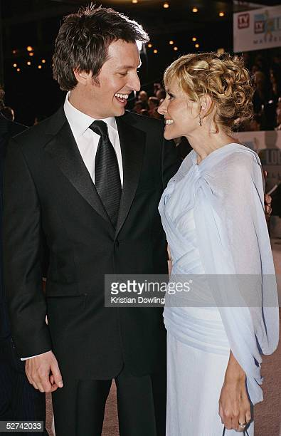 Personality Rove McManus and Belinda Emmett arrive at the 47th Annual TV Week Logie Awards at the Crown Entertainment Complex May 1 2005 in Melbourne...