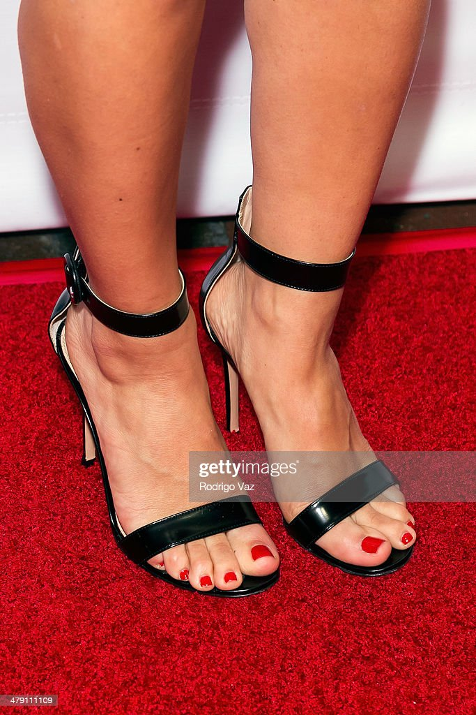 TV personality Roxy Sowlaty (shoe detail) attends The Dream Builders Project 'A Brighter Future For Children' at H.O.M.E. on March 15, 2014 in Beverly Hills, California.