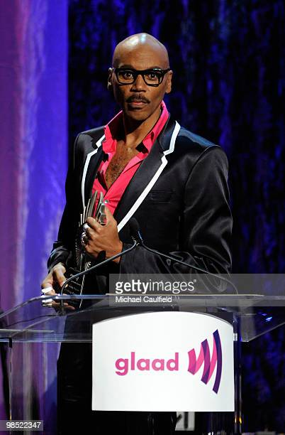 Personality RuPaul accepts the award for Outstanding Reality Program onstage at the 21st Annual GLAAD Media Awards held at Hyatt Regency Century...