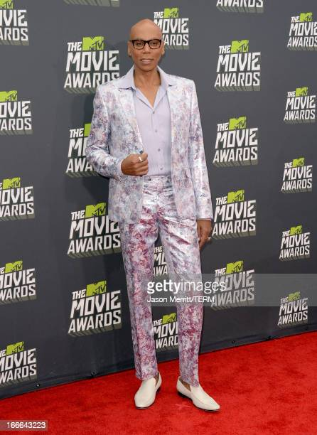TV personality RuPaul arrives at the 2013 MTV Movie Awards at Sony Pictures Studios on April 14 2013 in Culver City California