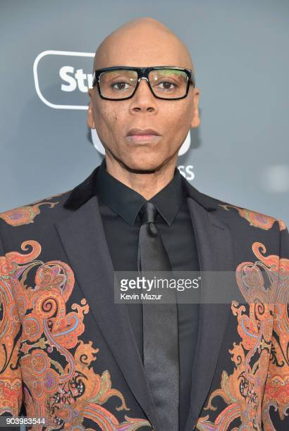 TV personality RuPaul attends The 23rd Annual Critics' Choice Awards at Barker Hangar on January 11 2018 in Santa Monica California