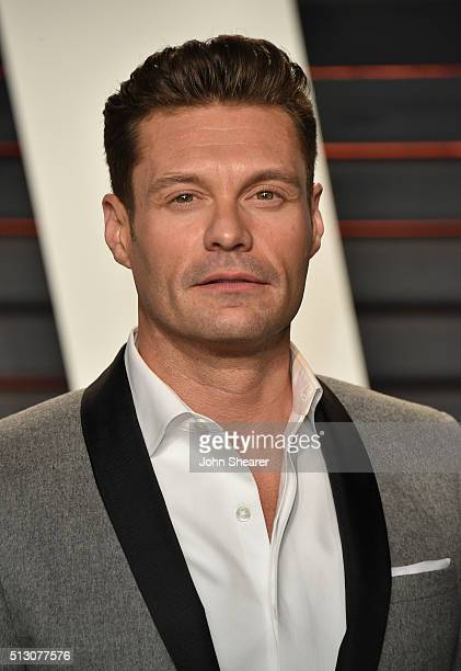 TV personality Ryan Seacrest arrives at the 2016 Vanity Fair Oscar Party Hosted By Graydon Carter at Wallis Annenberg Center for the Performing Arts...