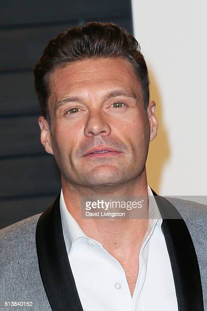 TV personality Ryan Seacrest arrives at the 2016 Vanity Fair Oscar Party Hosted by Graydon Carter at the Wallis Annenberg Center for the Performing...