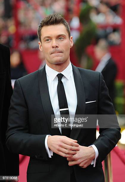 TV personality Ryan Seacrest arrives at the 82nd Annual Academy Awards held at Kodak Theatre on March 7 2010 in Hollywood California