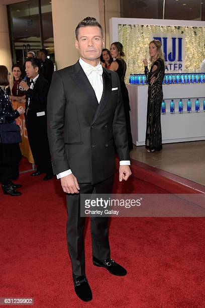 Personality Ryan Seacrest at the 74th annual Golden Globe Awards sponsored by FIJI Water at The Beverly Hilton Hotel on January 8 2017 in Beverly...