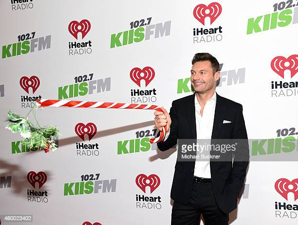 TV personality Ryan Seacrest attends KIIS FM's Jingle Ball 2014 powered by LINE at Staples Center on December 5 2014 in Los Angeles California