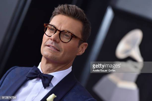 TV personality Ryan Seacrest attends the 60th Annual GRAMMY Awards at Madison Square Garden on January 28 2018 in New York City