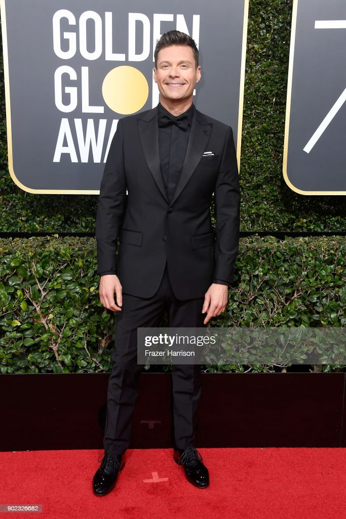 TV Personality Ryan Seacrest attends The 75th Annual Golden Globe Awards at The Beverly Hilton Hotel on January 7, 2018 in Beverly Hills, California.