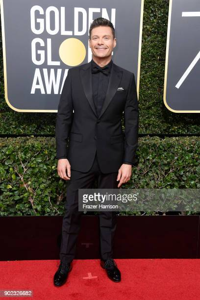 Personality Ryan Seacrest attends The 75th Annual Golden Globe Awards at The Beverly Hilton Hotel on January 7 2018 in Beverly Hills California