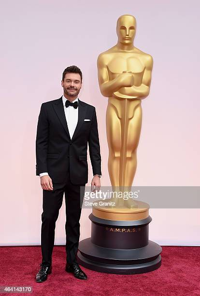 TV personality Ryan Seacrest attends the 87th Annual Academy Awards at Hollywood Highland Center on February 22 2015 in Hollywood California