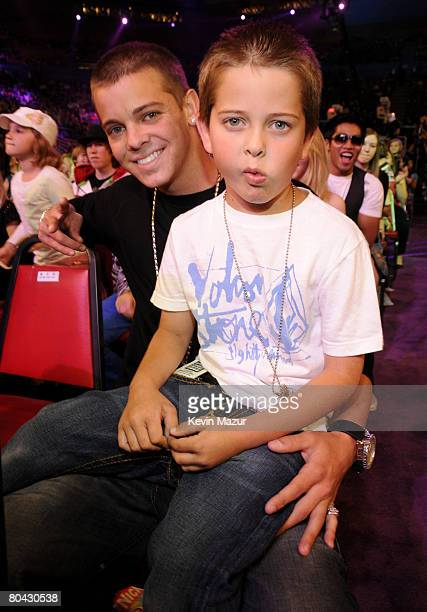 Personality Ryan Sheckler and guest during Nickelodeons 2008 Kids Choice Awards held at the Pauley Pavilion on March 29 2008 in Westwood California
