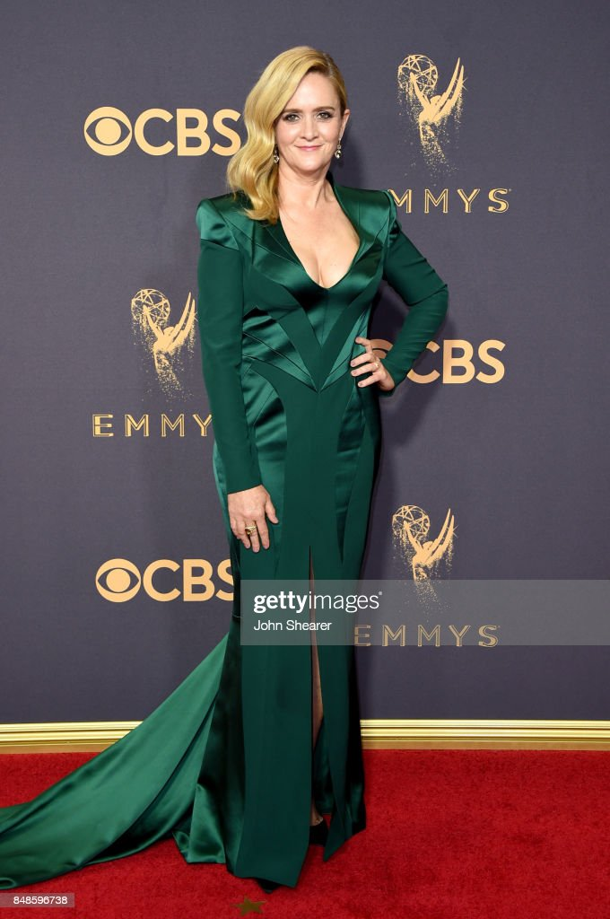 TV personality Samantha Bee attends the 69th Annual Primetime Emmy Awards at Microsoft Theater on September 17, 2017 in Los Angeles, California.