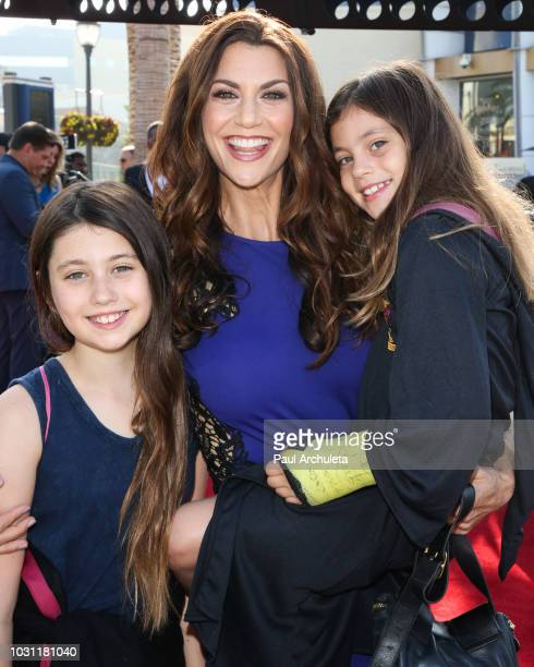 Personality Samantha Harris and her children Josselyn Harris and Hillary Harris attend the 25th anniversary celebration of Extra at Universal Studios...